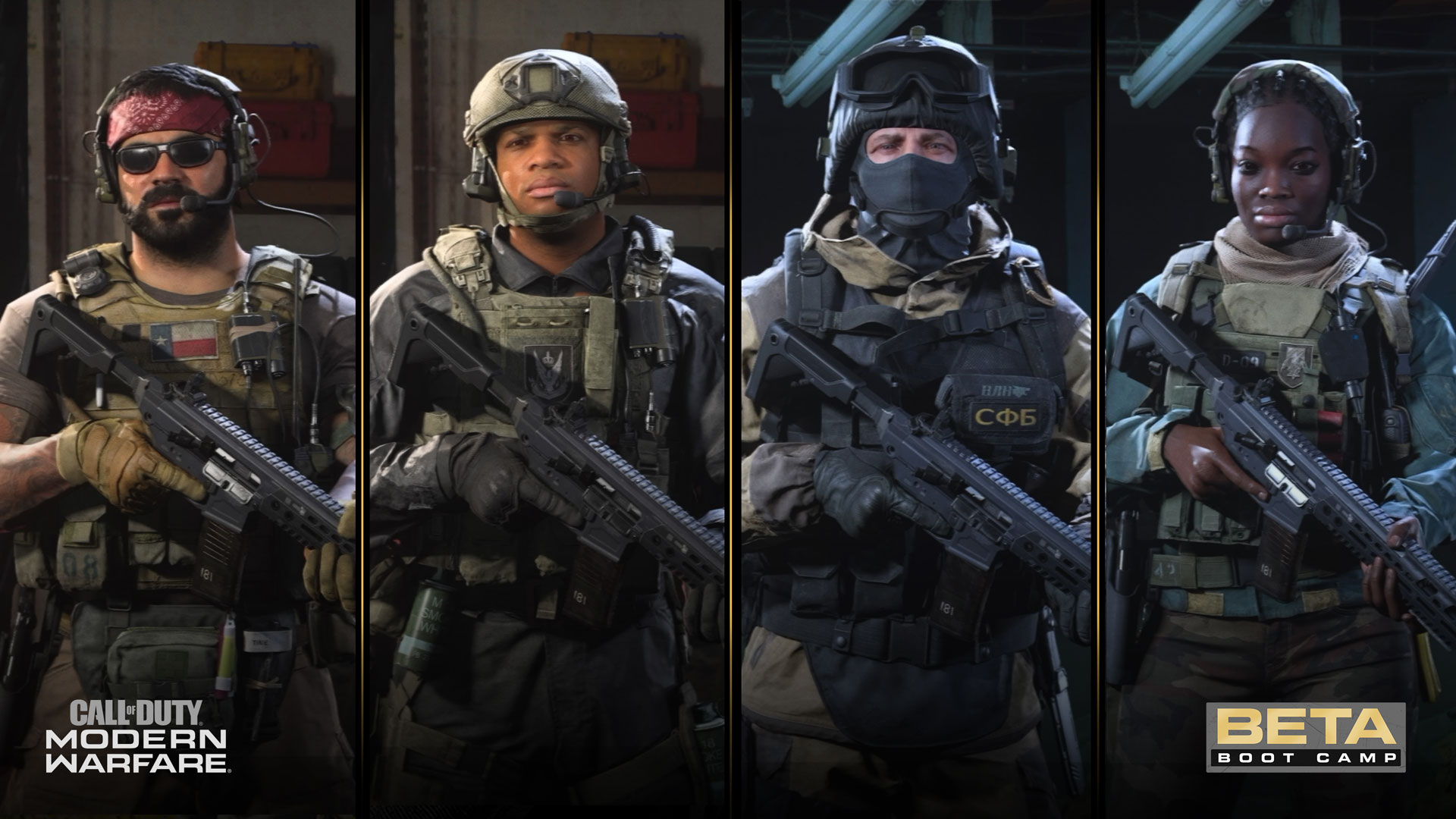 call of duty modern warfare characters