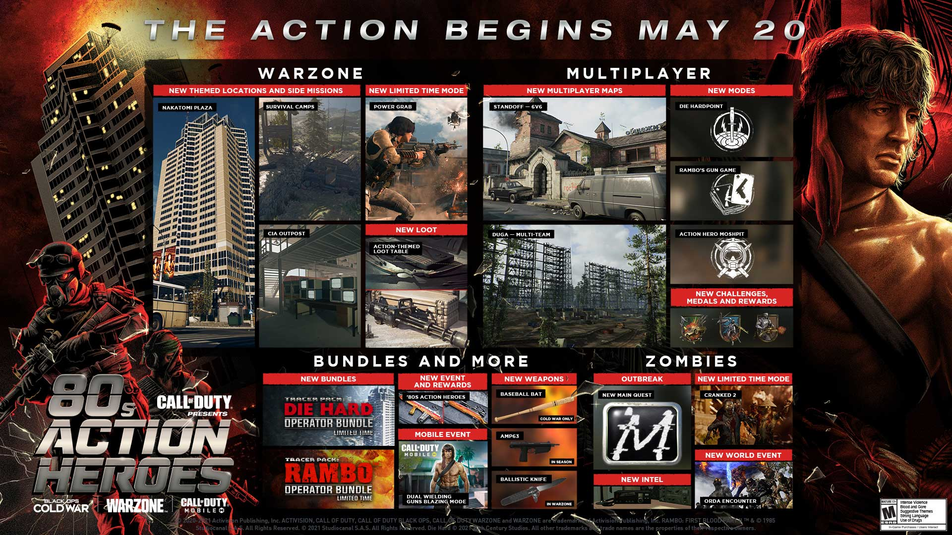 80s Action Heroes Rambo And John Mcclane Make Their Explosive Debut Across Call Of Duty