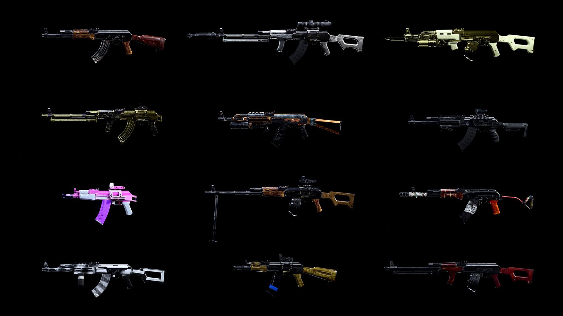 Оружия в CoD: Warzone в зависимости от редкости комплектации.
