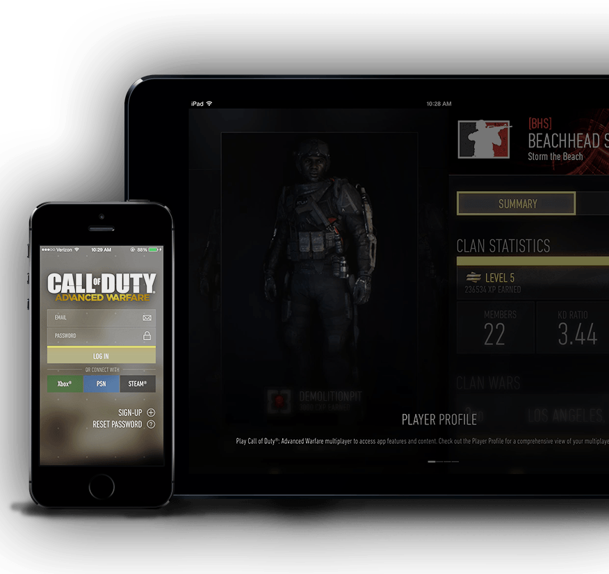 Télécharger l'application compagnon de The Call of Duty®: Advanced Warfare